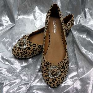 Nice Womens Fashion Casual Leopard Print Flats Shoes LORITA 08 CAMEL
