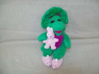 BABY BOP PLUSH BEAN BAG WITH BUNNY AND SLIPPERS BARNEY