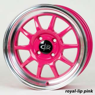 15 ROTA GT3 PINK RIMS WHEELS 15x7 +40 4x100 YARIS FIT