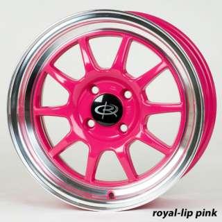 15 ROTA GT3 PINK RIMS WHEELS 15x7 +40 4x100 YARIS FIT