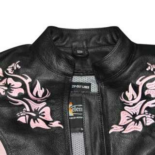 Xelement XS2005 Embroidered Ladies Motorcycle Jacket S