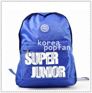 SJ SUPER JUNIOR WITH E.L.F KPOP BLUE SCHOOLBAG BACKPACK BAG NEW