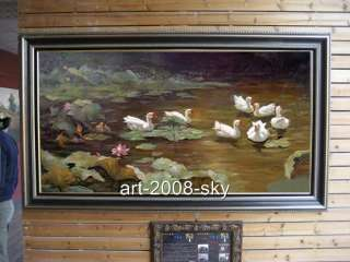 60ORIGINAL WILDLIFE OIL PAINTING ANIMAL ART DUCK