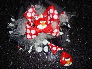 TODDLER GIRL ANGRY BIRDS BOUTIQUE HAIR BOW