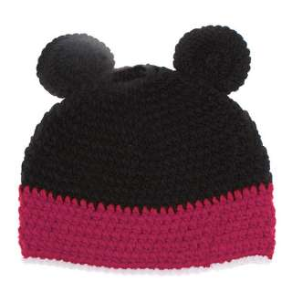 Lovely Cartoon Micky Mouse Knitted Wool Winter Cap Hat Beanie for