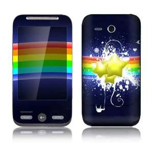 Rainbow Stars Decorative Skin Decal Sticker for HTC