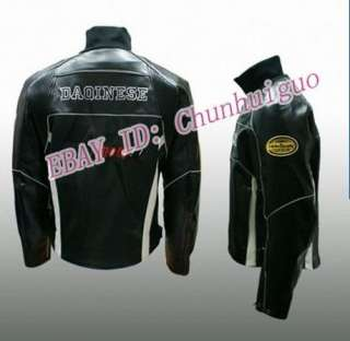 Cool New Moto Racing Black Leather Jacket S M L XL XXL