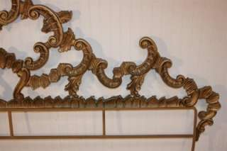 IRON Rococo Style Hollywood Regency King Size Headboard Bed