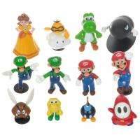 Lot 12 Super Mario bros mini figures Figurine Toy Doll