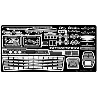 1962 Chevy Impala SS Detail Set for AMT (Photo Etched) 1