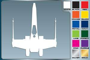 Star Wars X WING FIGHTER Silhouette cut vinyl decal #1 |