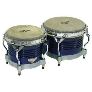 LP Matador Bongos Blue Wood W/ Chrome Hdwr: Musical