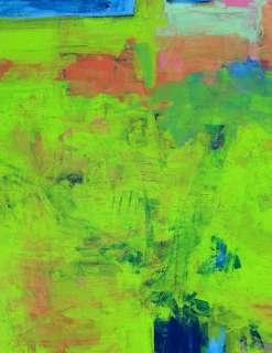 NEW HUGE GREEN ABSTRACT Original Art PAINTING DAN BYL Fine Modern