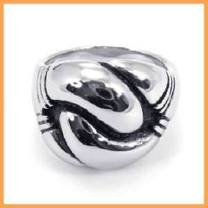 Stainless Steel Silver Tone Hand Power Ring Free Ship