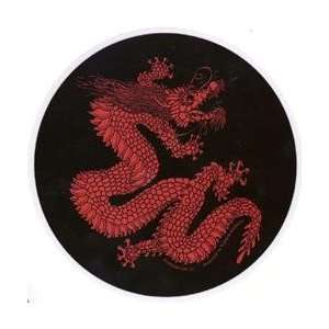 Chinese Dragon Sticker ~ Round Red Dragon Sticker/Decal