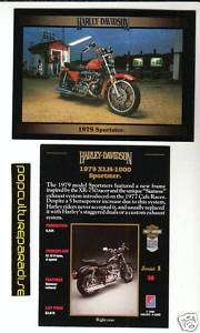 1979 HARLEY DAVIDSON XLH 1000 SPORTSTER Motorcycle CARD