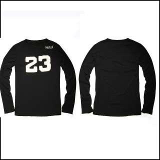NEW MATCH Mens crew neck cotton Casual Shirts Black Size M L XL