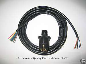 Trailer wiring kit 7 pin 12 n plug + 5 m 7 core cable