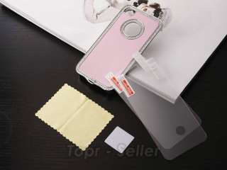 Diamond Aluminium Case Cover iPhone 4 4S 4G + Free Screen Film