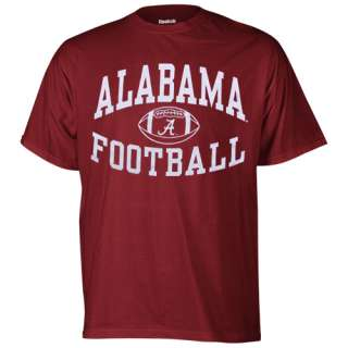 Alabama Crimson Tide Reversal Football T Shirt   Crimson