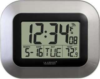 La Crosse Technology WT 8005U S Atomic Digital Wall Clock w/ Temp