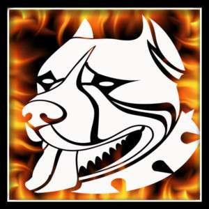 Pitbull 6 airbrush stencil template harley paint