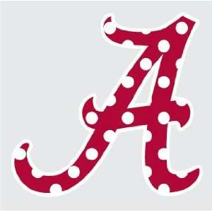 ALABAMA Crimson Tide Polka Dot SCRIPT A 3 Logo vinyl decal car truck