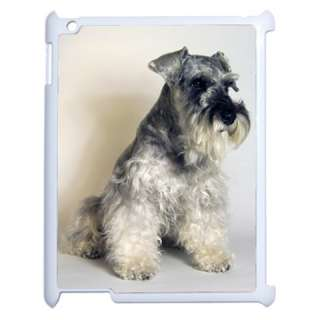 SCHNAUZER DOG PUPPIES APPLE IPAD 2 TABLET COMPUTER WHITE COVER CASE