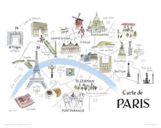 Map Of Paris Giclee Print by Alice Tait at AllPosters
