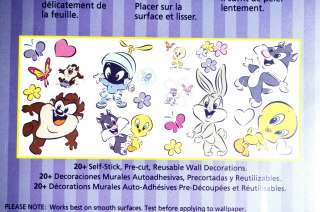 21 Looney Tunes 4 sheet 17x10 Wall Stickers Baby Room Decals Stick Ups
