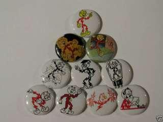 REDDY KILOWATT Electric Pins Buttons Badges Pinbacks NV