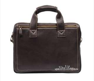 New Mens Real Leather shoulder bag Handbag Briefcases