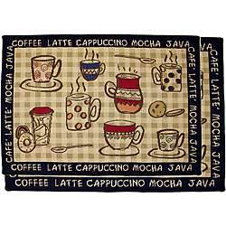 Rustic Cafe Two piece Tapestry Rug/ Runner Set (19 x 27, 19 x 54