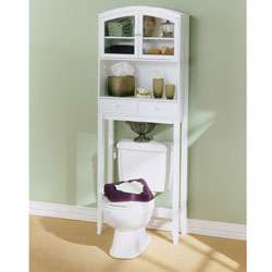 Arch Top Hardwood Bathroom Spacesaver  Overstock