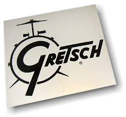 Gretsch BLACK DRUM SET CYMBAL Car Window STICKER DECAL