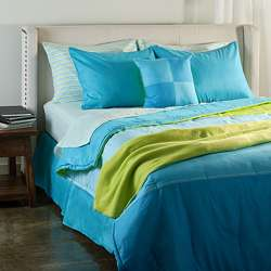 Blue Colorblock Bed in a Bag with Sheet Set  Overstock