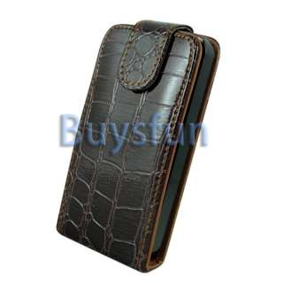 skin style new generic flip vertical leather case stand out from