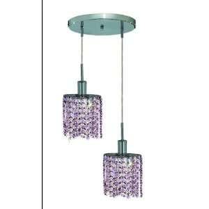 Elegant Lighting 1382D R E RO/RC Mini 8 Inch High 2 Light