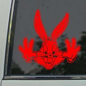 BUGS BUNNY Red Decal LOONEY TOONS RABBIT Window Red