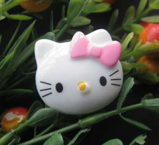 Hello Kitty resin flatback buttons appliques/craft DIY kids doll B142