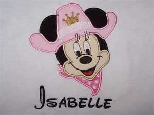 Personalized Custom MINNIE MOUSE Cowgirl Birthday Shirt