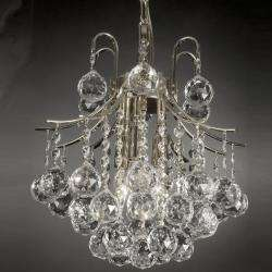 Indoor 3 light Crystal/ Silver Mini Chandelier
