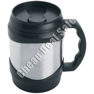 Stainless Steel Large Big Oversized Huge Black Coffee Travel Cup New