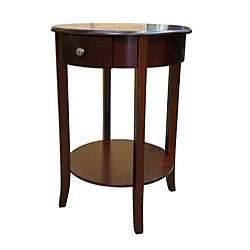Round Cherry End Table  Overstock