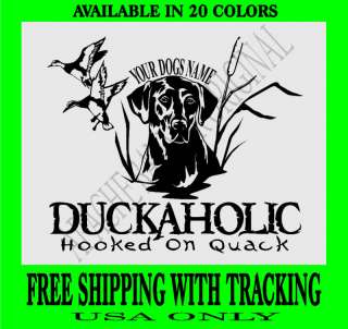 DUCK HUNTING DECAL Lab Dog Fishing Geese Goose 1835HOQ
