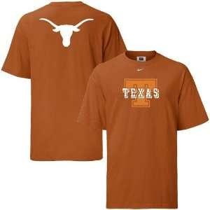 Texas Longhorns Burnt Orange Youth Big Look T shirt