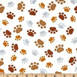 To The Dogs Paw Prints Cream Fabric By The Yard Arts, Crafts & Sewing
