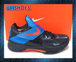 2011 Nike Zoom KD IV 4 X Black Blue Team Orange Noir US 7.5~12 pe kobe
