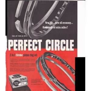 Perfect Circle 2 In 1 Piston Ring Set 1953 Original