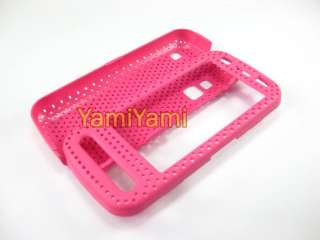 Plastic Hole Skin Protector Cover Case For NOKIA C6 00 Hot Pink